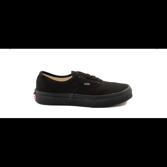 all black lace up vans